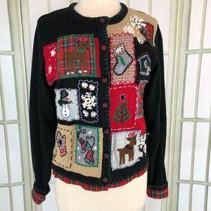 Victoria Jones Christmas Cardigan Sweater